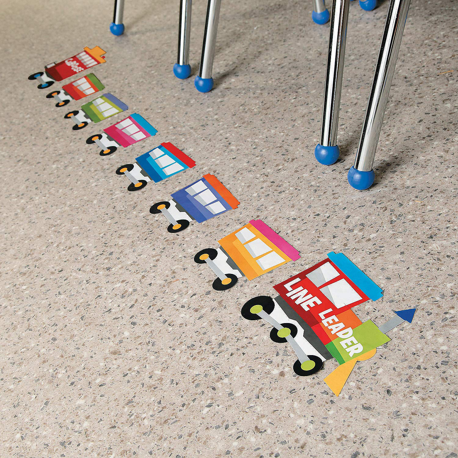 Fun Express Train Floor Clings - Educational Teaching Aids by Fun Express