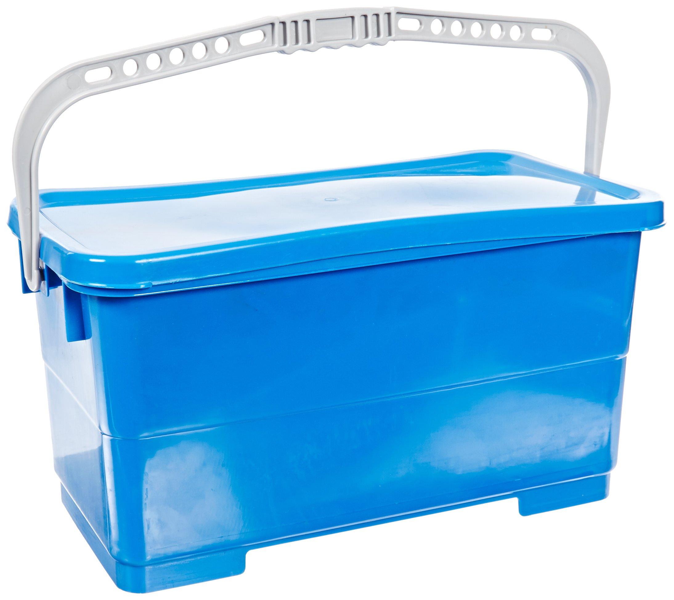 Impact LF328A Plastic Microfiber Top Down Charging Bucket, 5.25 Gallon Capacity, Blue (Case of 4)