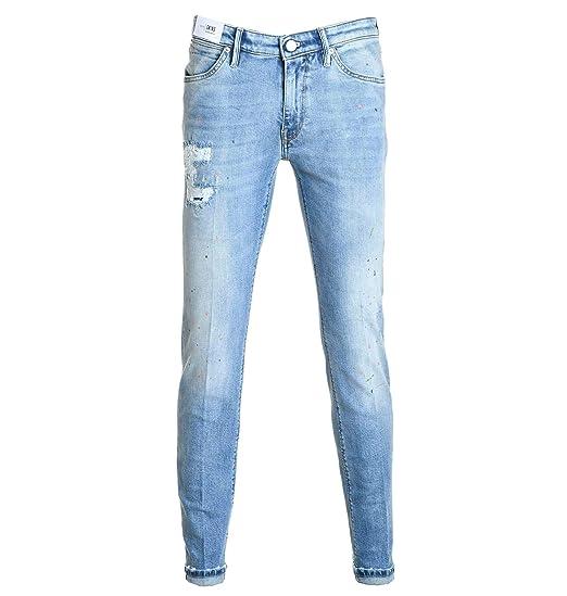 PT01 Mens TU59C6DT05Z00MINLIGHTBLUE Light Blue Cotton Jeans