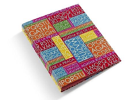 M. Rius - Letras carpeta 4 anillas folio, diseño Agatha Ruiz de la Prada