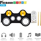 Picasso Tiles PT50 Portable Kid's Roll Up Drum