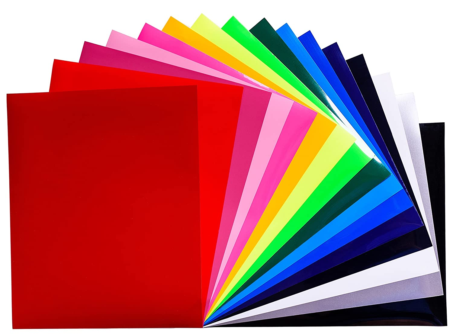 Roviko Heat Transfer Vinyl Bundle 12 x 10 – 20 Pack of Assorted Color Vinyl Sheets – Iron on PU HTV for T-Shirts – Suitable for Silhouette Cameo, Cricut and Heat Press Machine Tool