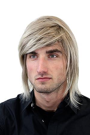 Wig Me Up Gfw892 18t22 Perucke Manner Gemischtes Blond Lang Seitenscheitel