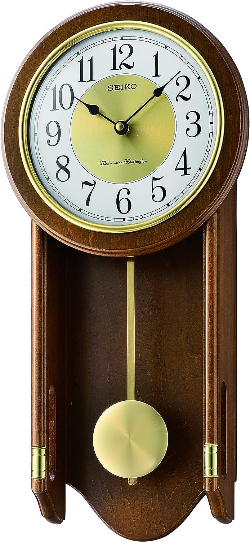 Seiko Chiming - Reloj de pared de madera con péndulo