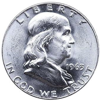 1963 D Franklin 90% Silver Half Dollar Brilliant Uncirculated