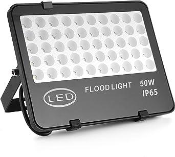 QinTia 50W Foco Proyector LED, Negro Luz de Inundación de LED ...