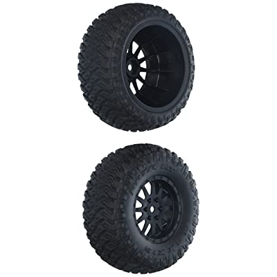 Losi Wheel and Tire Mounted (2): TENACITY SCT, LOS43015: Toys & Games