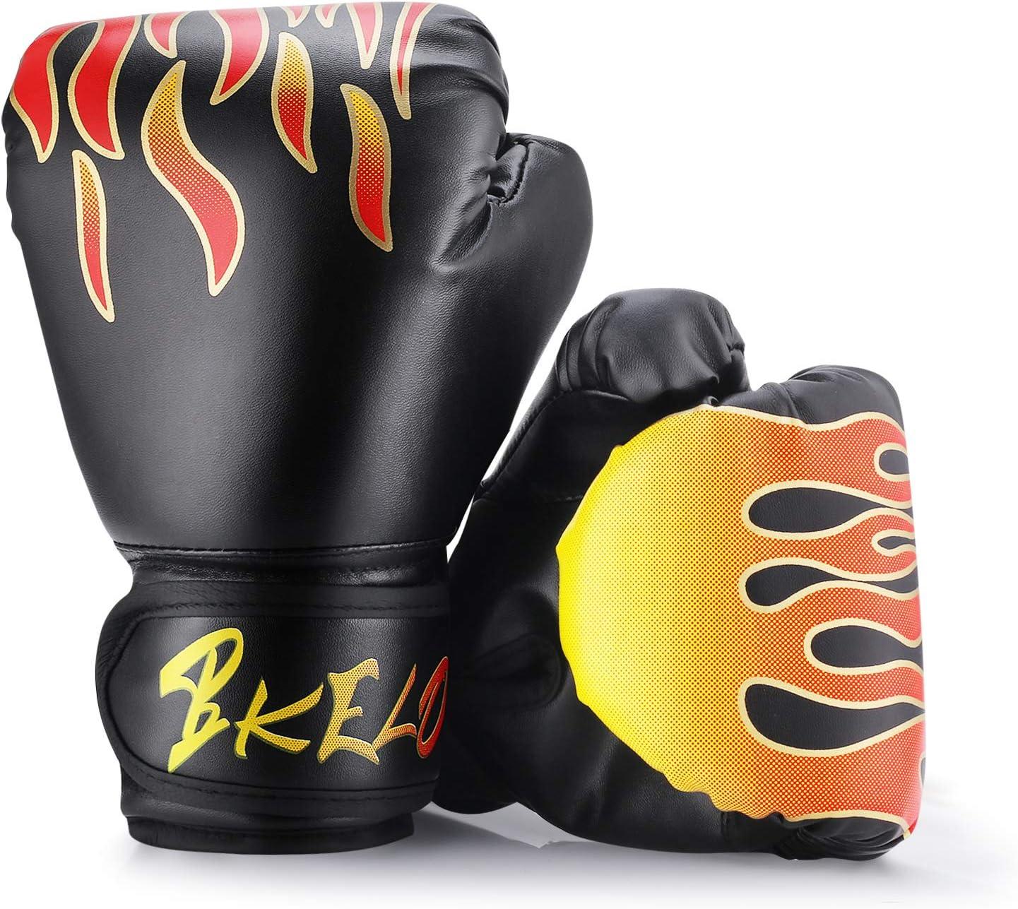 Haepe Children Cartoon Boxing Gloves Kickboxing Punching Bag Training Fight,Training Punch Bag Sparring Gloves Mitts Punching Bag Muay Thai Gloves