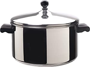 Farberware Classic Stainless Steel 6-Quart Stockpot with Lid, Stainless Steel Pot with Lid, Silver