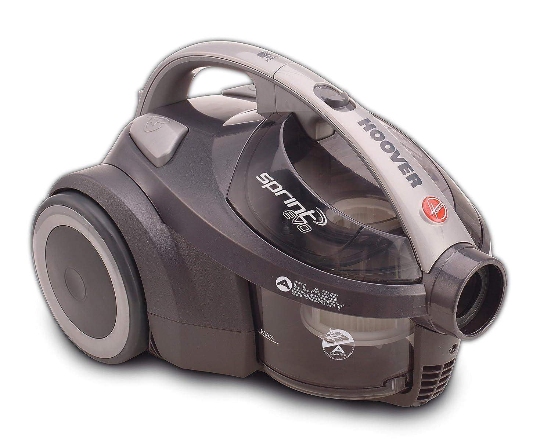 Hoover Sprint EVO SE41 Aspirador trineo sin bolsa con filtro EPA, todas las superficies, 700W, nivel de ruido 80dBA, color gris