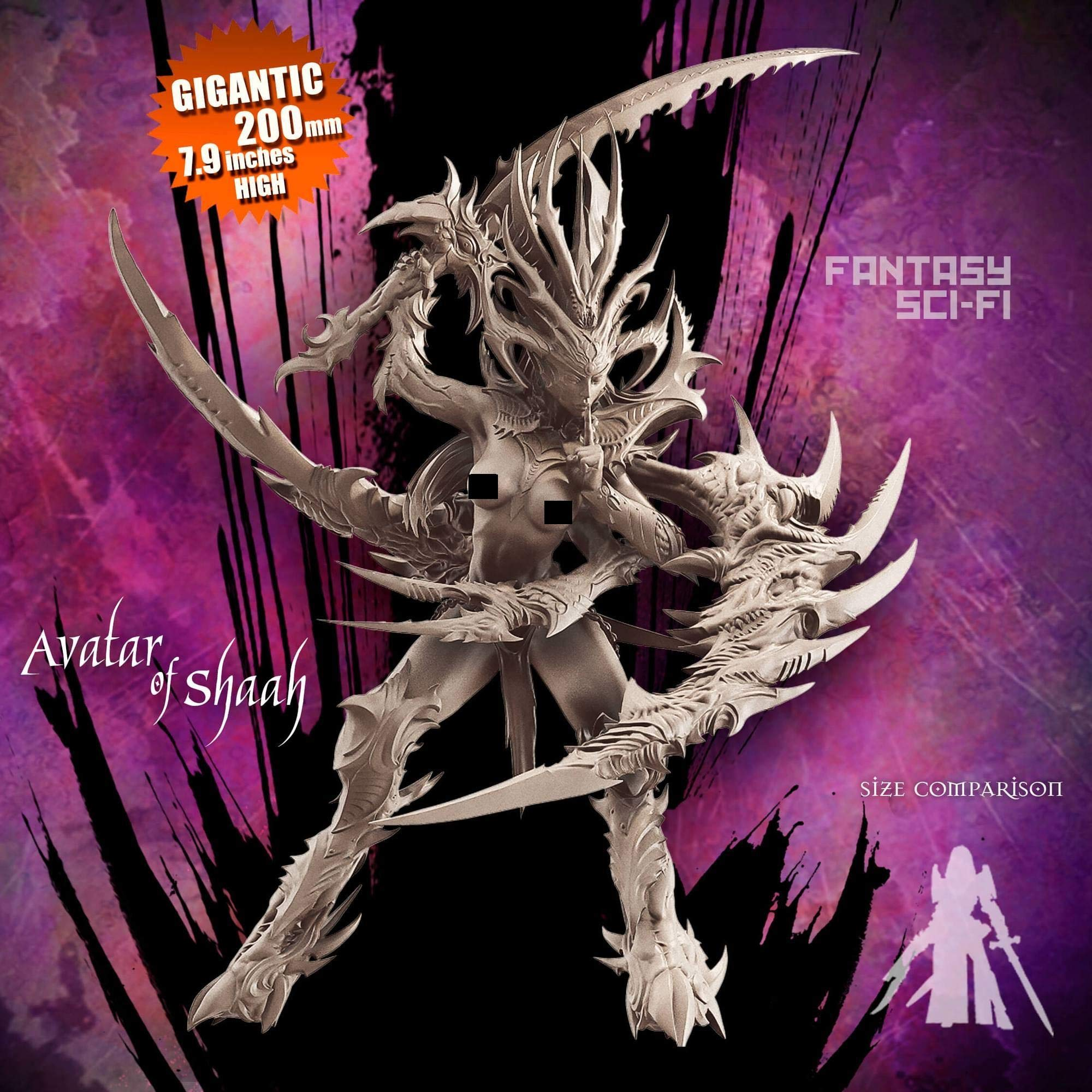 Raging Heroes Miniatures - Assorted - Science Avatar of Shaah