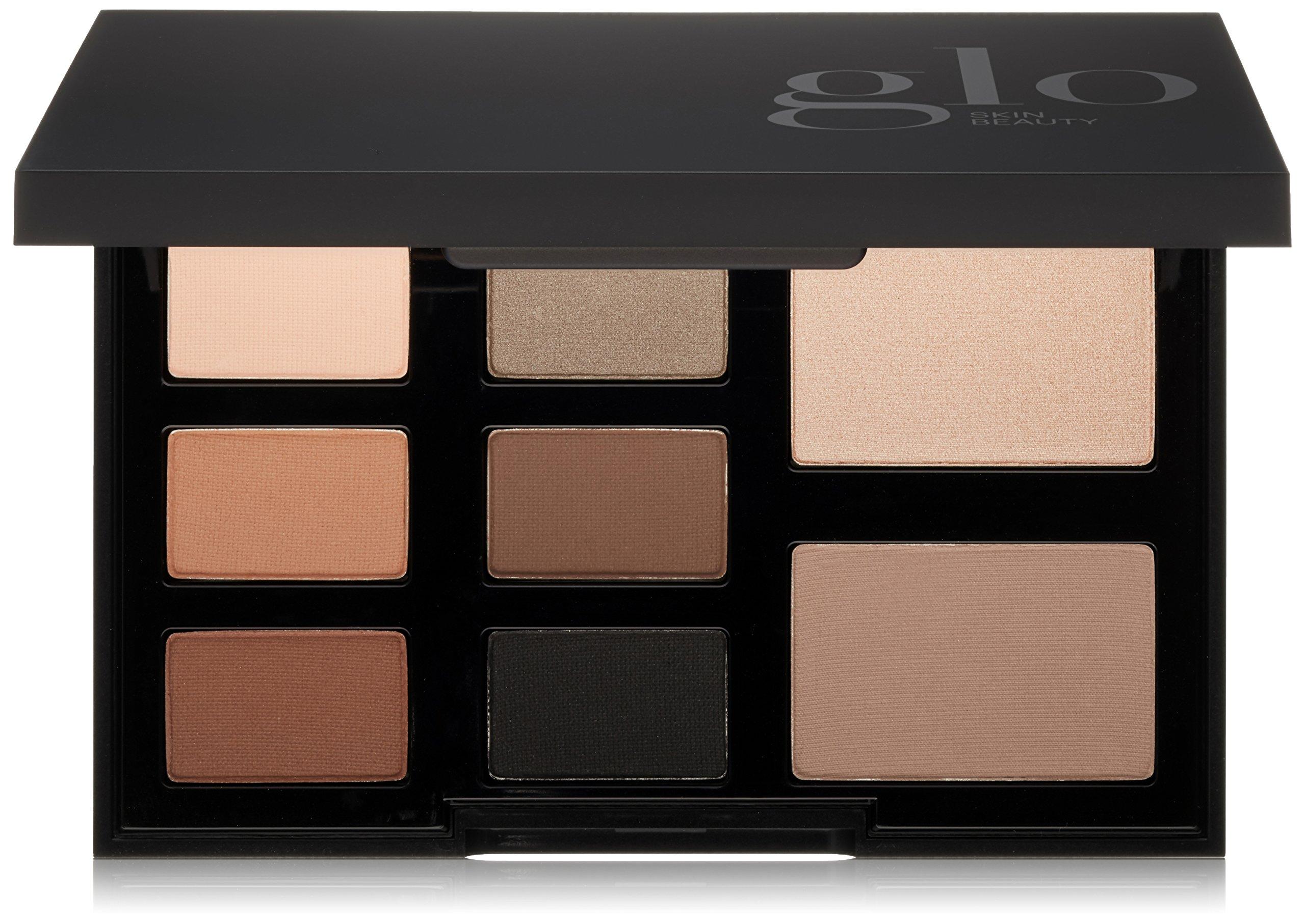 Glo Skin Beauty Eye Shadow Palette in Elemental Eye - Smokey Black | 8-Color in 4 Shade Options | Powder Eyeshadow Kit by Glo Skin Beauty