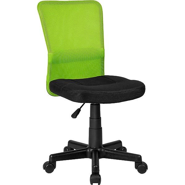 TecTake Silla de Oficina giratoria (Negro-Verde | no. 401796 ...