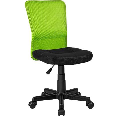 TecTake Silla de Oficina giratoria (Negro-Verde | no. 401796)