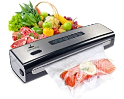 Vacuum Sealer Machine, meidong Food Saver Vacuum Sealer Machine Built in Air Sealing System w/Starter Kit, Dry & Moist Food M