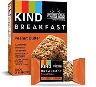 product image for KIND Breakfast Bars, Peanut Butter, Gluten Free, 1.8oz, 32 Count