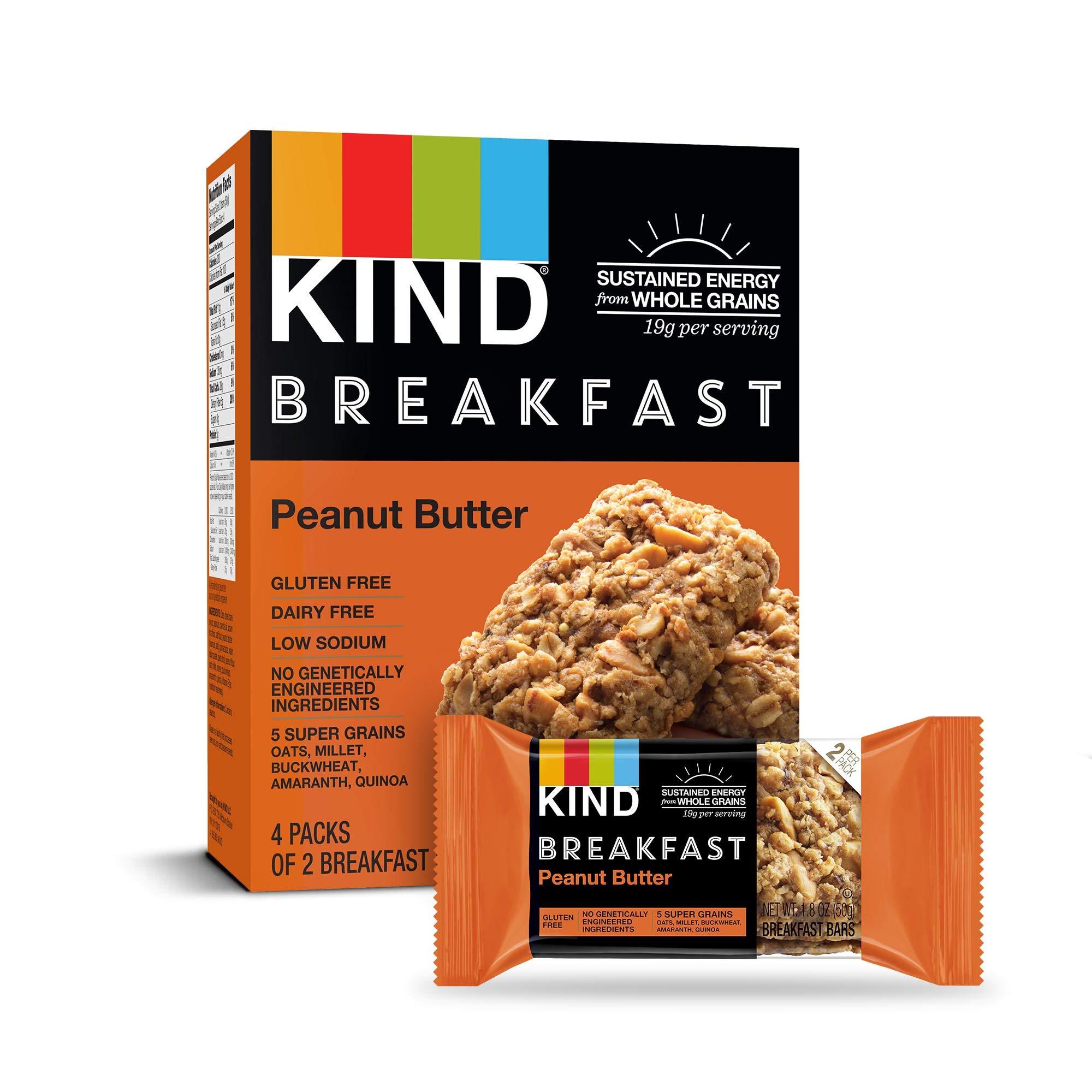 KIND Breakfast Bars, Peanut Butter, Gluten Free, 1.8 Ounce, 32 Count by KIND