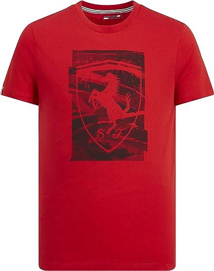 Branded Sports Merchandising B V Rotes Herren T Shirt Mit F1 Schild Motiv Scuderia Ferrari Rot Small Bekleidung