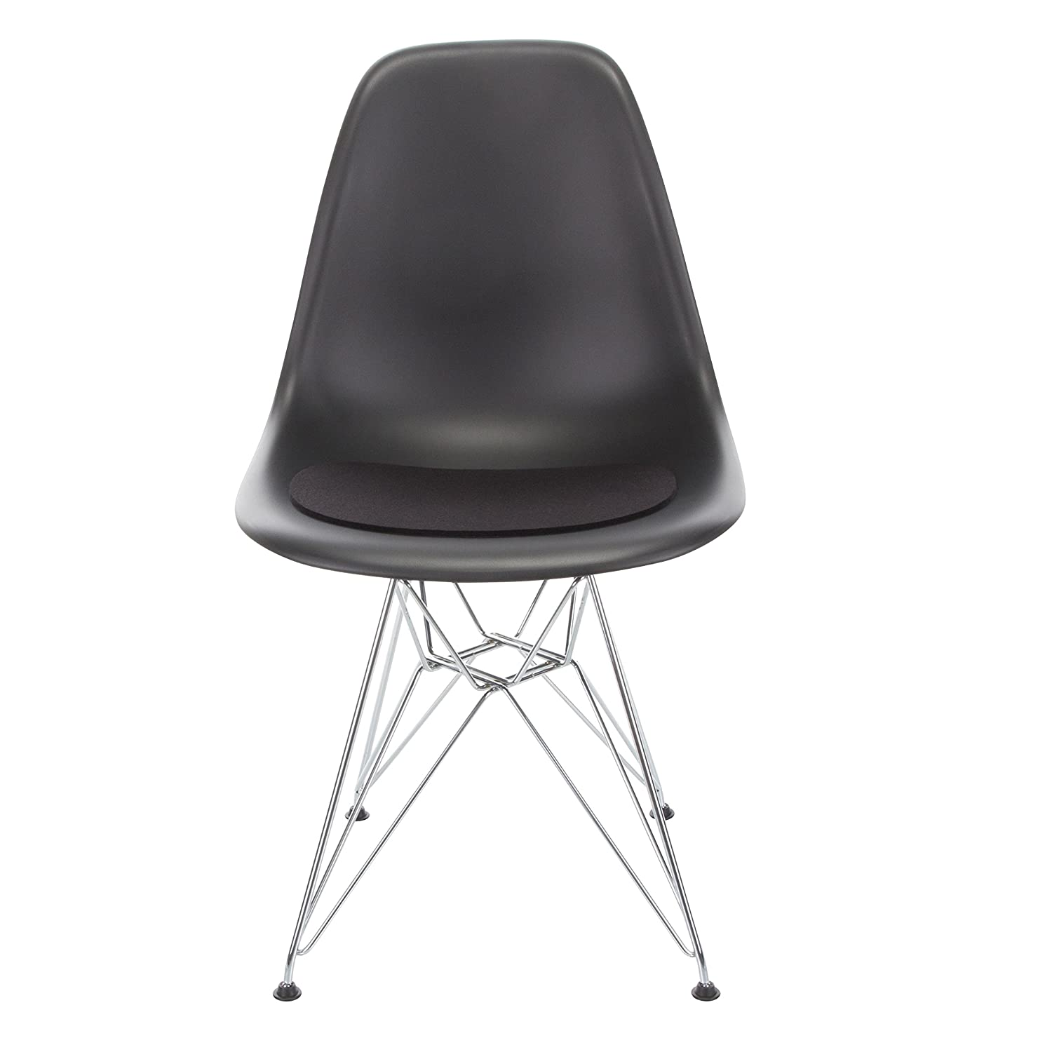 Hey Sign 5011235_02AR Felt Cover for Eames Plastic Side Chair, Anti-Slip, Black