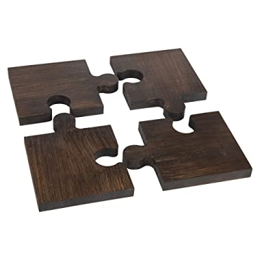 Wooden Puzzle Trivet and Coaster | For Hot Pots, Pans, Dishes, Cups, Glasses | Kitchen, Table Decor, Accessory