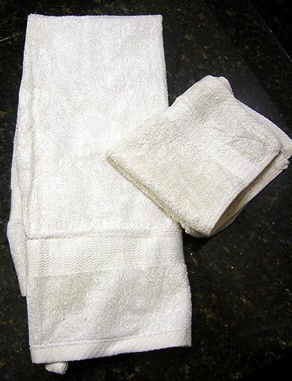 Hilo Viscose derivados de bambú Ultra suave toallas de mano