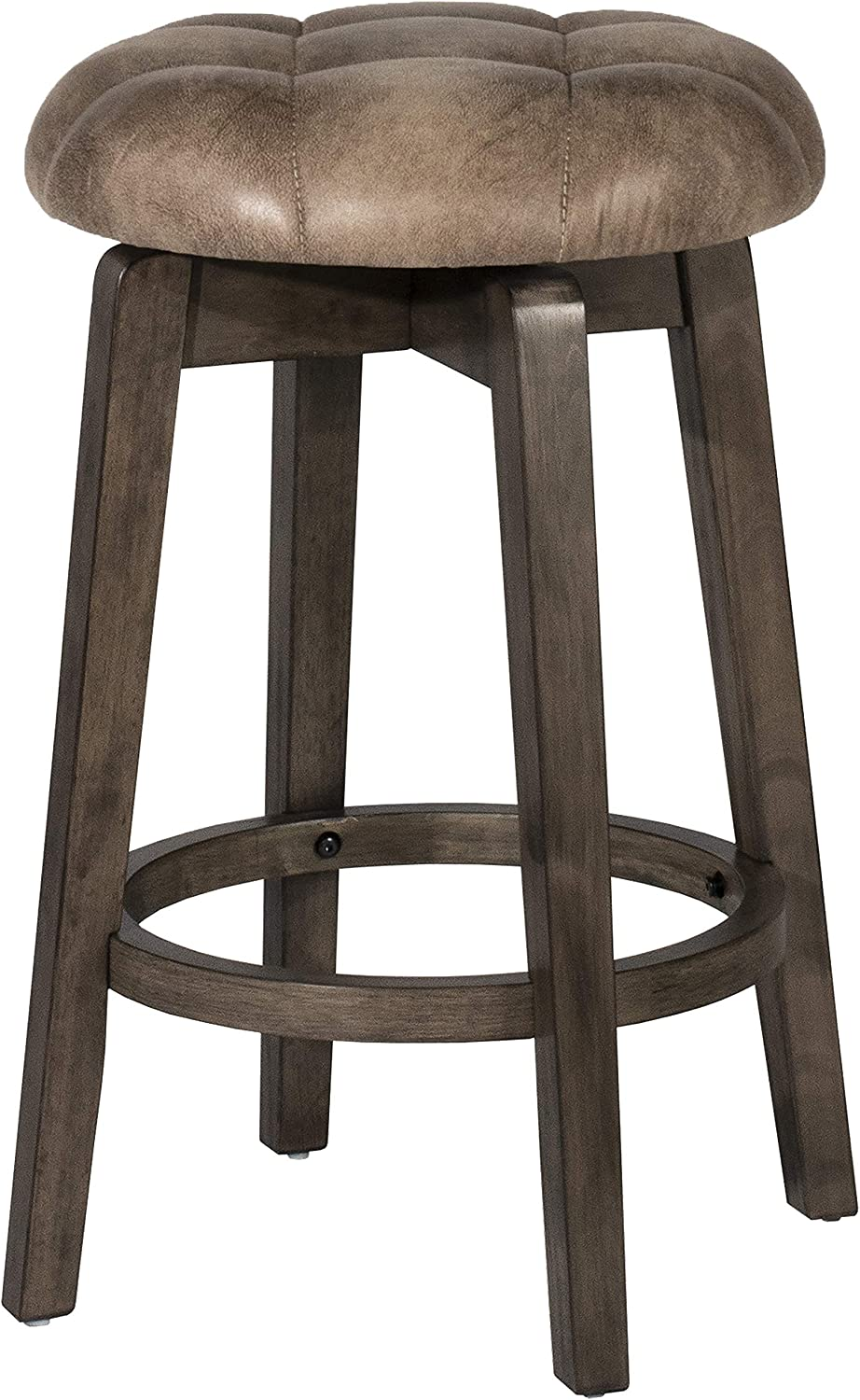 Hillsdale Furniture Odette Backless Swivel Counter Stool, Rustic Gray