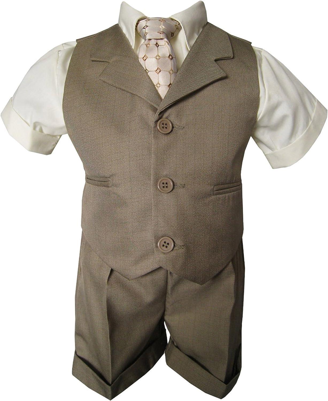 Gino Giovanni Baby-Boys Summer Suit Vest Short Set