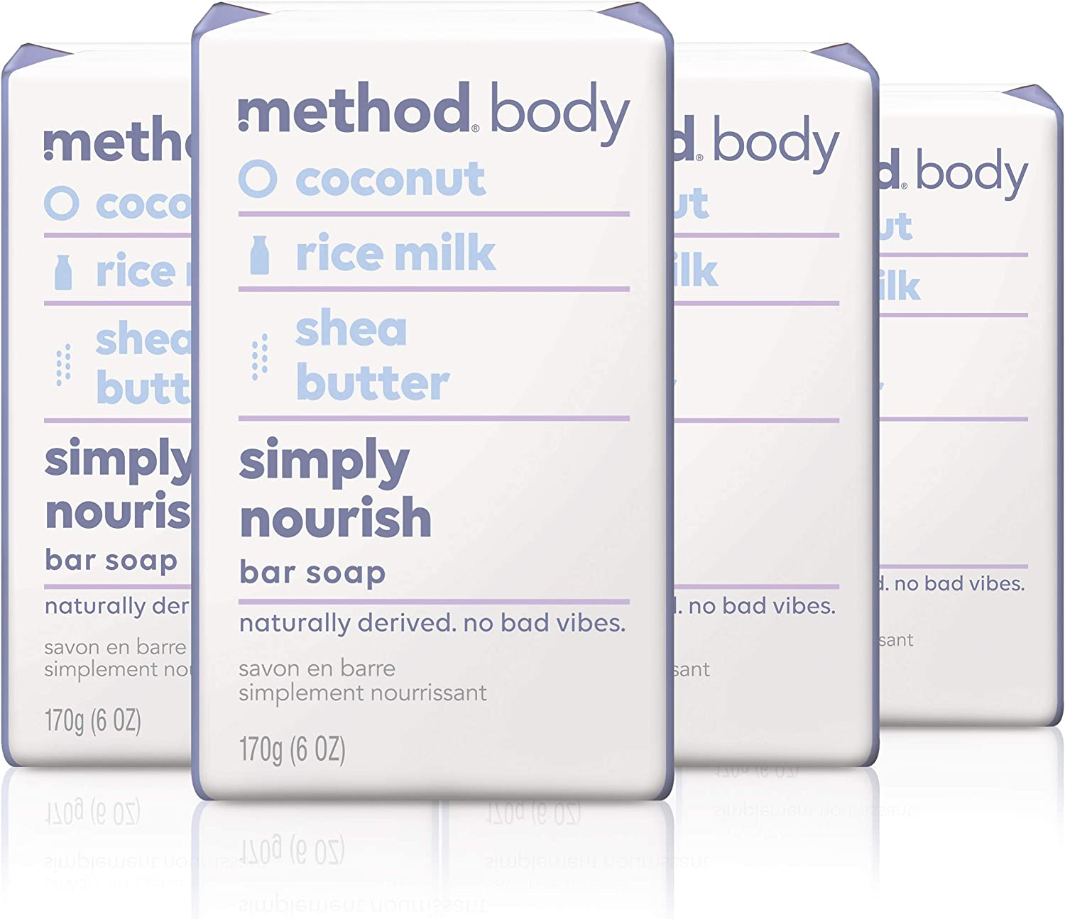 Method Experiential Bar Soap, Simply Nourish, 4 Count