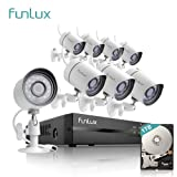 Amazon Price History for:Funlux 8 Channel 1080p HDMI NVR Simplified PoE 8*720p HD Outdoor Indoor Security Camera System 1TB Hard Drive