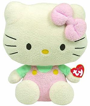 Hello Kitty - Peluche mono, 20 cm, color rosa (TY 32148TY)