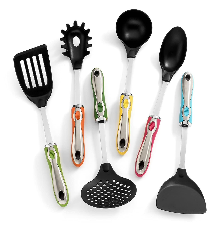 Amazon.com: Kitchen Utensils with Holder 7 Pc Cute Utensil Set ...