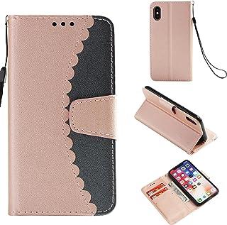 Per Samsung Galaxy S9Plus S9+ custodia a portafoglio, Premium Clear Design, in pelle PU TPU antiurto carte, chiusura magnetica funzione flip custodia a libro per Samsung Galaxy S5Plus S7S9+ AmberMa
