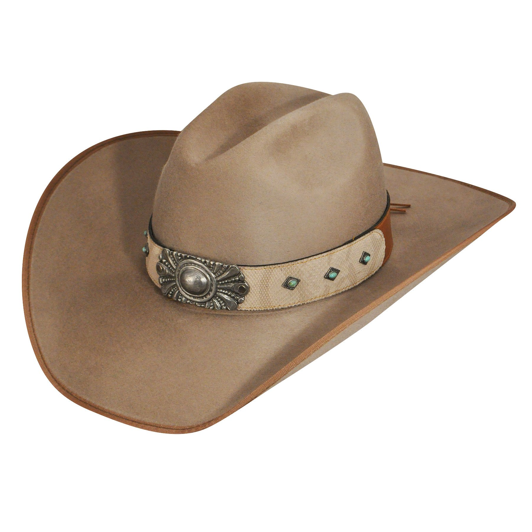 Hats.Com Male Male Renegade By Bailey Clara Western Hat Taupe 7 3/8 Taupe 7 3/8 by Bailey Western