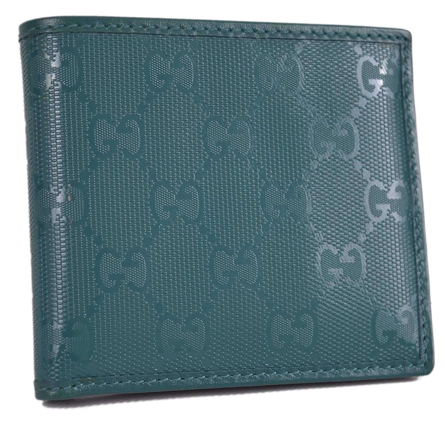 202b61596ee192 Amazon.com: Gucci Men's Teal Imprime GG Guccissima Bifold Wallet 145754:  Clothing