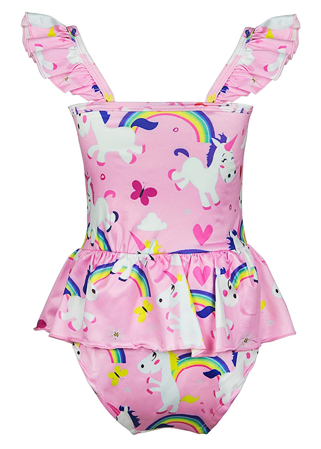 9eb10883c0 ... Wenge Girls Rainbow Unicorn Swimsuit Baby Unicorn Print Swimsuit-One  Piece Swimwear Bathing Suit Bikinis