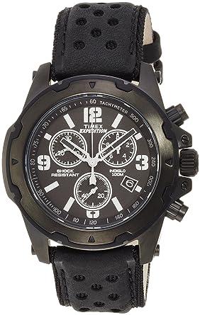 Timex Reloj Cronógrafo para Hombre de Cuarzo con Correa en Cuero TW4B01400: Amazon.es: Relojes