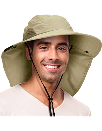 a46da471 Solaris Outdoor Fishing Hat with Ear Neck Flap Cover Wide Brim Sun  Protection Safari Cap for