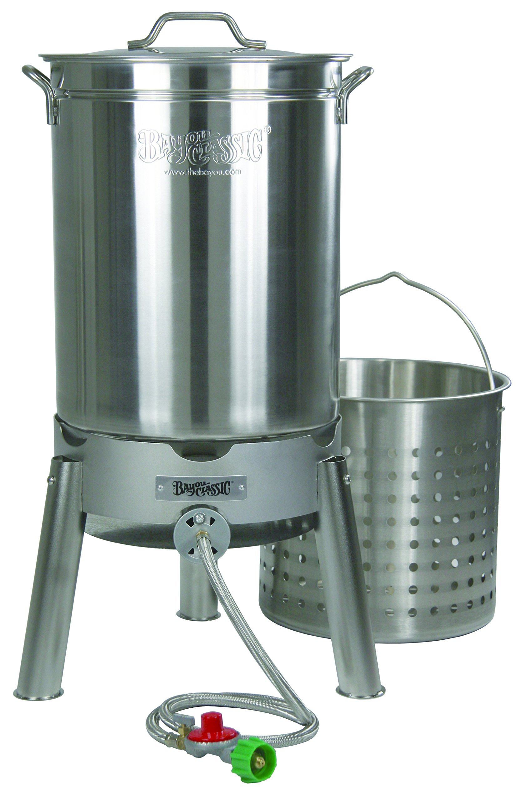 Bayou Classic KDS-144 44-Quart Stainless Steel Cooker Kit