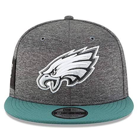buy popular 8cb36 97128 Image Unavailable. Image not available for. Color  New Era Philadelphia  Eagles 2018 Sideline Onfield NFL Graphite Charcoal Green 9Fifty ...