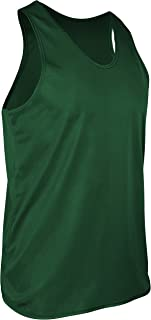 product image for TR-903-CB Men's Athletic Single Ply Solid Color Light Weight Track Singlet (XXX-Large, Kelly)
