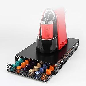 Coffee Capsule Drawer Display Storage Pod Holder for Nespresso Originaline (60 Pods)