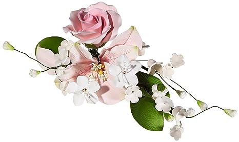 Cake Company Zuckerblumenboquet Lilie-Rose rosa 1er Pack (1 x 56 g)