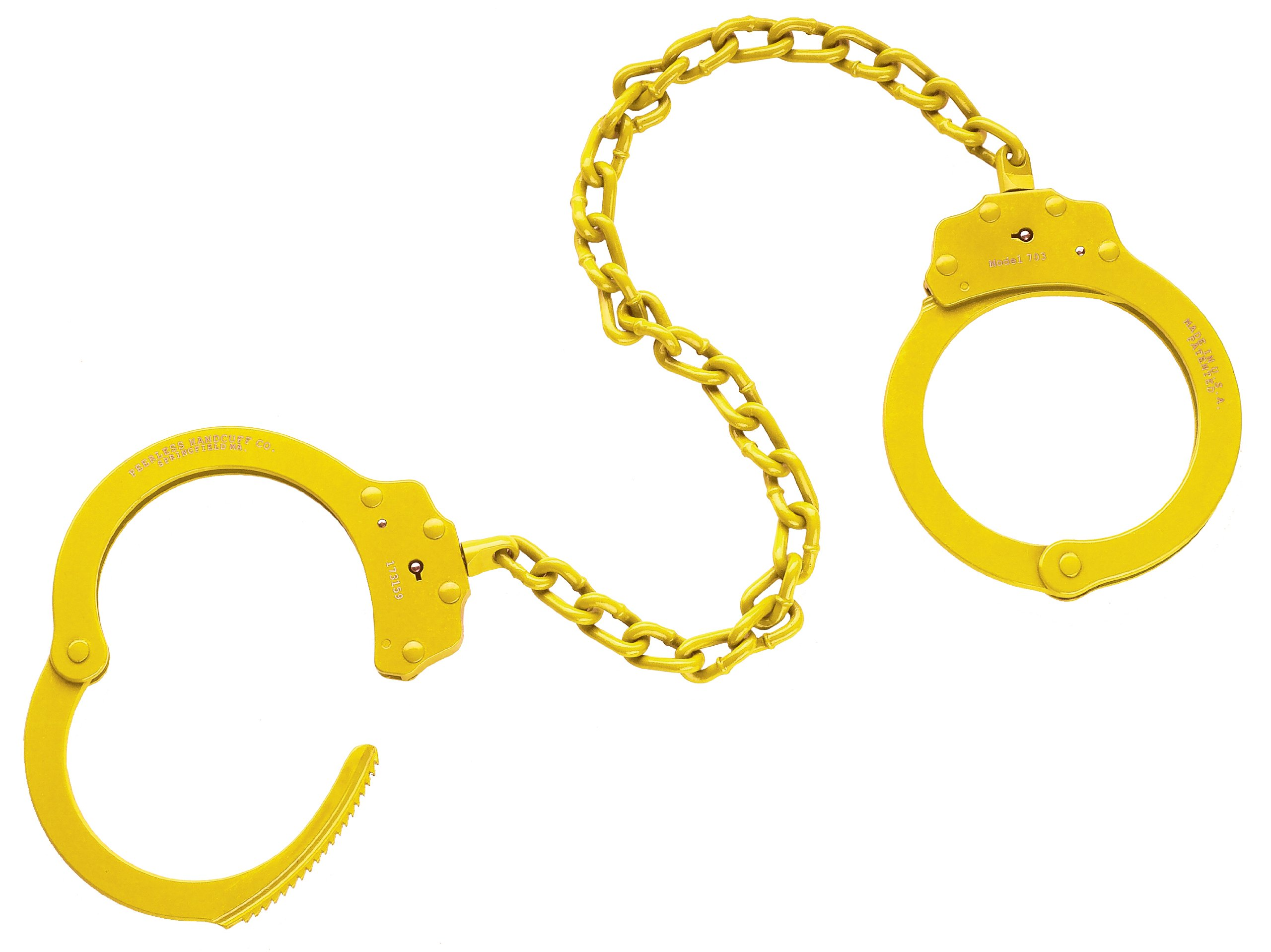 Peerless Handcuff Company 755B Oversize Leg Iron, Yellow by Peerless Handcuffs