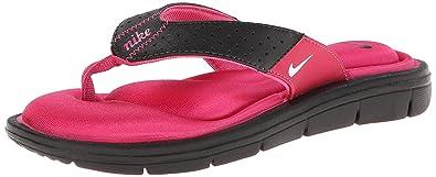 Nike Women's Comfort Thong BlackVivid PinkWhite Sandal 5 B Medium
