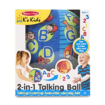 Melissa & Doug K's Kids 2-in-1 Talking Ball Educational Toy - ABCs and Counting 1-10: Melissa & Doug: Toys & Games