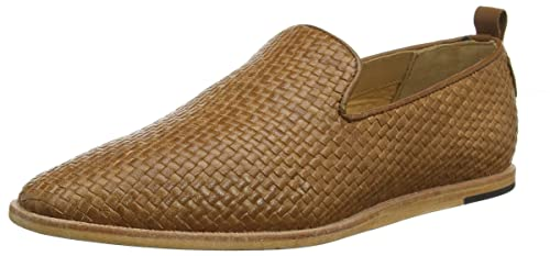 London Herren Ipanema Weave SlipperBraun Hudson Leather qzMULSGVp