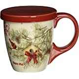 LANG 5054018 Cardinal in Pines Tea Cup Set