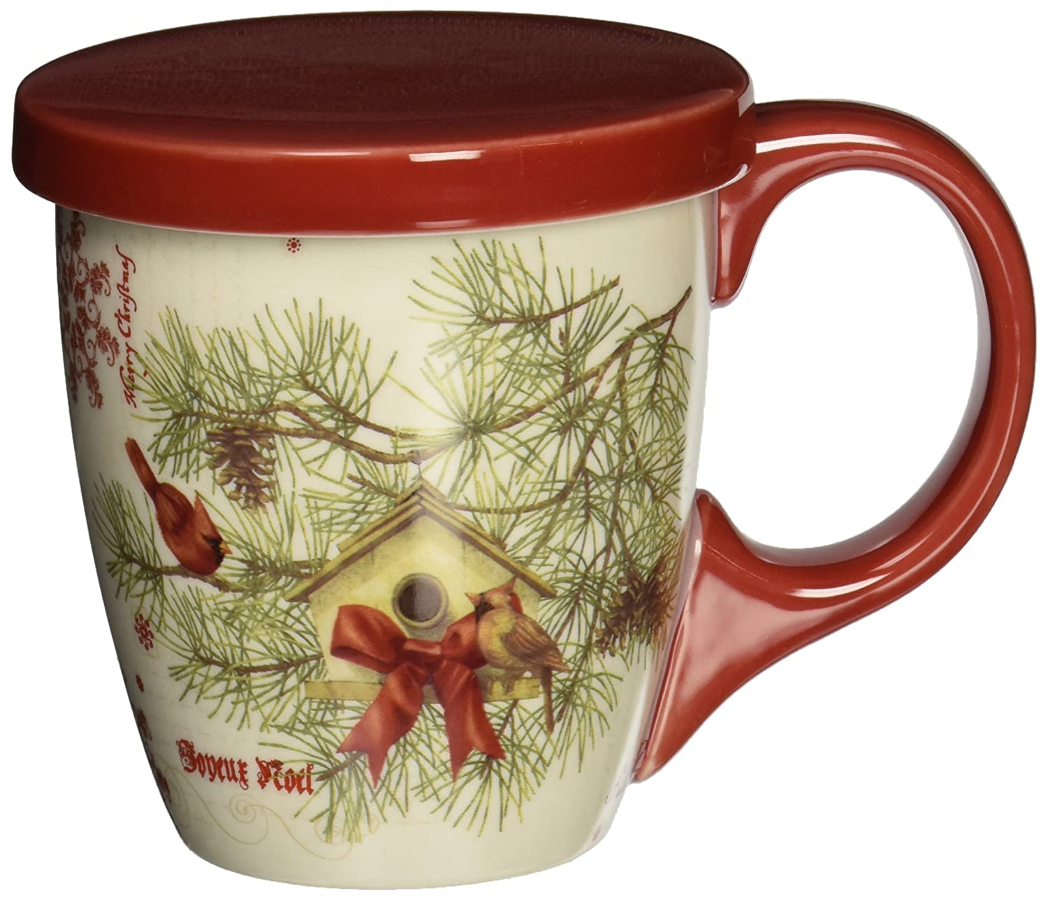 LANG 5054018 Cardinal in Pines Tea Cup Set