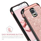 BENTOBEN Galaxy S5 Case, Glitter Bling Luxury 2 in