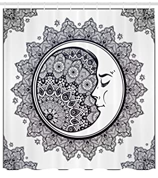 Abakuhaus Duschvorhang Halbmond Mandala Symbol Muster Kultur Mond